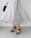 そろそろ花柄スカートは厳しいかも…なんて思っていませんか?大人に合わせた小花柄スカート「forme」パープル 小花…