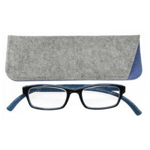 老眼鏡 おしゃれ 男女兼用 軽量 ネックリーダーズ 首かけ ブルーライトカット 眼鏡ケース付き バイカラー(ブルー×ブラック) 度数 1.0 1.5 2.0 2.5 3.0 ブランド Bayline ベイライン