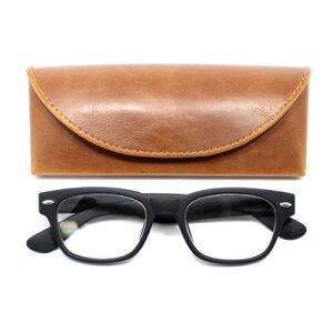 老眼鏡 男性 おしゃれ 男女兼用 ウェリントン ラバーコーティング (マットブラック) 眼鏡ケース付き 度数 1.0 1.5 2.0 2.5 ブランド Bayline ベイライン
