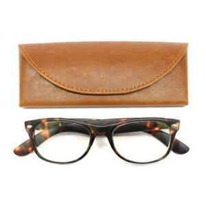 老眼鏡 男性 おしゃれ 男女兼用 PC カジュアル ウェリントン べっ甲 (ブラウン) 眼鏡ケース付き 度数 1.0 1.5 2.0 2.5 度なし ブランド Bayline ベイライン