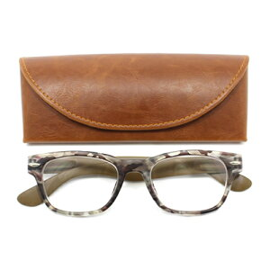 老眼鏡 男性 おしゃれ 男女兼用 ウェリントン PC カモフラージュウェリントン(カーキ) 眼鏡ケース付き 度数 1.0 1.5 2.0 2.5 ブランド Bayline ベイライン