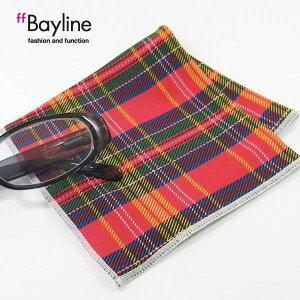 眼鏡拭き【赤チェック】おしゃれ メガネ クロス かわいい チェック柄 レッド プレゼント に最適 メガネ拭き 男性用 女性用 ブランド Bayline ベイライン