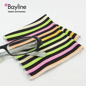 眼鏡拭き【マルチストライプ 】 おしゃれ メガネ クロス かわいい ストライプ柄 マルチ プレゼント に最適 メガネ拭き 男性用 女性用 ブランド Bayline ベイライン