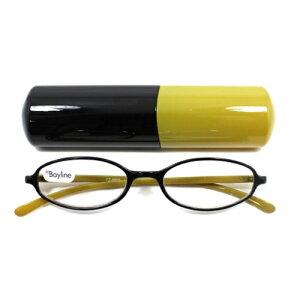 老眼鏡 女性 おしゃれ 男女兼用フェミニンオーバル バイカラー (オリーブ) 眼鏡ケース付き 度数 1.0 1.5 2.0 2.5 3.0 ブランド Bayline ベイライン