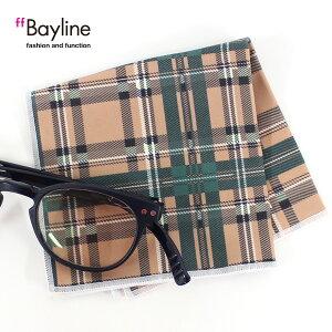 眼鏡拭き【チェック柄(ベージュ×グリーン)】 おしゃれ メガネ クロス かわいい ベージュ グリーン プレゼント に最適 メガネ拭き 男性用 女性用ブランド Bayline ベイライン