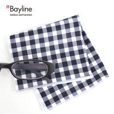 眼鏡拭き【チェック柄(ネイビーギンガム)】おしゃれメガネクロスかわいいギンガムチェックプレゼントに最適メガネ拭き男性用女性用ブランドBaylineベイライン