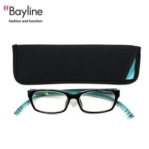 老眼鏡 女性 おしゃれ 男女兼用 軽量 ネックリーダー老眼鏡 首 に 掛け られる老眼鏡 ブルーライトカット 眼鏡ケース付き バイカラー(ブラックスカイブルー) 度数 1.0 1.5 2.0 2.5 ブランド Bayline