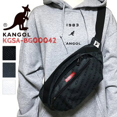 【KANGOL】カンゴールボディバッグ斜めかけ男女兼用ウエストポーチウエストバッグロゴプリントカバンバッグフェスコンサートアウトドアー自転車