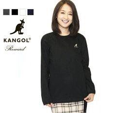 カンゴールス長袖TシャツロンTロゴ刺繍ブランドKANGOLREWARD部屋着長袖ブラックグレーホワイトネイビー