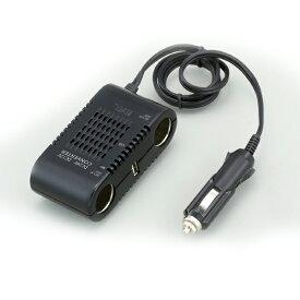 大橋産業 BAL DC/DCコンバーター No.1771 10A 24V電源をDC12V/USB電源に変換 シガーソケット/充電器/アダプター/増設/トラック【あす楽15時まで】