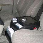 日本製 ニッサン エルグランド(ELGRAND)専用コンソールボックス ドリンクホルダー センターテーブル E51 内装パーツ 車内収納 収納ボックス CD DVD 小物入れ【あす楽15時まで】