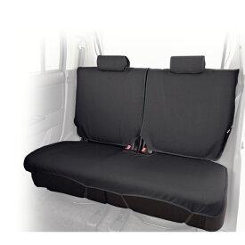 軽自動車リアシート用 撥水シートカバー ウォータープルーフ ブラック シートの汚れ防止にエプロンタイプで簡単取付け/後部座席【あす楽15時まで】