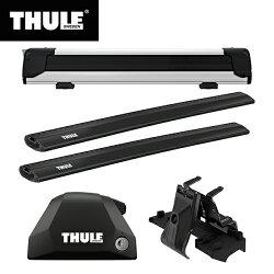 【送料無料※沖縄除く】THULE(スーリー) BMW X1専用ベースキャリア(フット7206+ウイングバーエッジ 7214B×2本+キット6007)+スキーキャリア スノーパック エクステンダー7325 F48