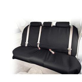 自動車リアシート用 撥水シートカバー ウォータープルーフ ブラック シートの汚れ防止に 簡単取付け/後部座席【あす楽15時まで】