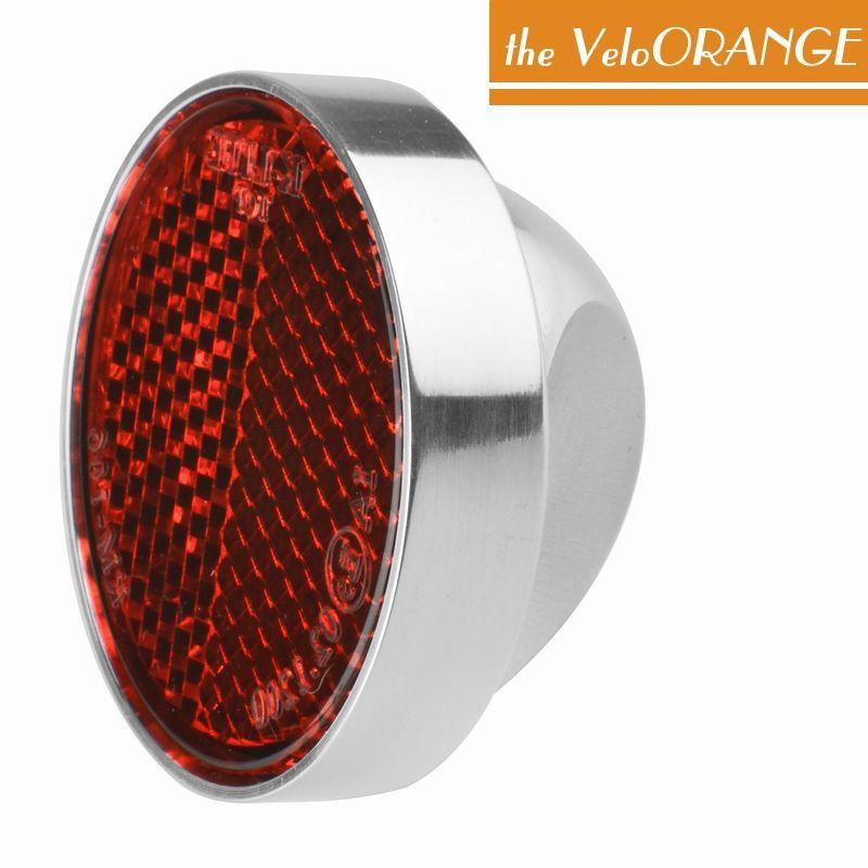 Velo Orange(ヴェロオレンジ) グランクリュ アルミニウム製CNC加工削り出しリアリフレクター42ミリ。リアフェンダーにねじ止めする、ポリッシュ仕上げのバイク用リフレクター。バイシクル 自転車