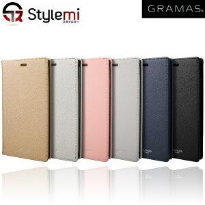 """iPhone XRケース GRAMAS COLORS CLC62518 """"EURO Passione"""" 欧州調の手帳型PUレザーケース。ハイセンスでおしゃれな超薄型軽量ダイアリータイプアイフォンカバー。カード収納 ブランド Apple プレゼント付"""