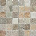 自然石 ユニットストーン デザートゴールド 48mm角 【ケース出荷】11シート モザイク石材 天然石モザイク