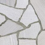乱形石アルビノホワイト乱形石材白1ケース束(0.5m2)ガーデニング石材庭洋風和風エクステリアDIY乱形石貼り