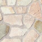 乱形石ミルキーピンク(乱形石材)。1ケース束(0.5m2)ガーデニング石材でお庭を!エクステリアDIY乱形石貼り