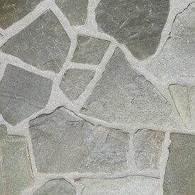 乱形石 乱形 石材 自然石 モーリーグレー 床 1ケース 販売 束 0.5m2 0.5平米 乱形石材 石英岩 クォーツサイト グレー 庭 アプローチ ガーデニング 石 敷石 貼り石 【送料無料】