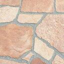 乱形石 乱形 石材 ローズ ピンク 桜 サンドピンク 砂岩 1ケース 販売 束 0.5m2 0.5平米 自然石 乱形石材 庭 アプロー…