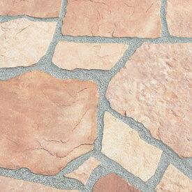 乱形石 乱形 石材 ローズ ピンク 桜 サンドピンク 砂岩 1ケース 販売 束 0.5m2 0.5平米 自然石 乱形石材 庭 アプローチ ガーデニング 石 【送料無料】