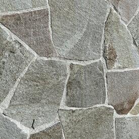 乱形石 乱形石材 鉄平石 和風 グレー 自然石 諏訪鉄平石 てっぺいせき 乱形 石 1ケース 販売 束 約0.4m2 0.4平米 乱形 石材 庭 アプローチ ガーデニング 【送料無料】