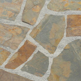 乱形 乱形石 石材 マルチグレー 自然石 1ケース 販売 束 0.5m2 0.5平米 スレート グレー 茶色 乱形石材 庭 アプローチ ガーデニング 石 【送料無料】