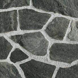 乱形石 黒 ブラック 乱形 石材 自然石 クリスタルブラック 1ケース 販売 束 0.5m2 0.5平米 乱形石材 石英岩 クォーツサイト 庭 石 アプローチ ガーデニング 敷石 貼り石 【送料無料】