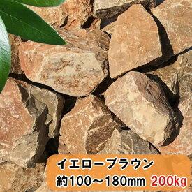 庭石 割栗石 ガーデニング 置き石 庭 ロックガーデン 石 大量 200kg 大 黄茶色 イエローブラウン おしゃれ 洋風 大きい 砕石 石 石材 diy 栗石 岩 ガーデンロック 自然石 割石 約100〜180mm