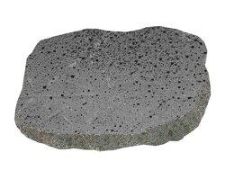 火山岩バサルト飛石飛び石大判グレー黒系ステップストーンガーデニングの石材敷石ステップストーン踏石