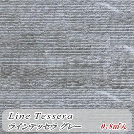 壁石 壁 石 貼り 壁用石材 ラインテッセラ グレー 割肌 大理石 グレー 黒系 室内 壁石材 0.8平米 天然石 外壁 内壁 壁材 タイル厚 石張り ボーダー ストーン