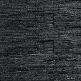壁石 壁 石 貼り レッジストーン 割肌 スリムブラック 黒 スタックストーン 壁石材 壁用石材 パネル 7枚入 外壁 内壁 壁用 壁材 石張り 天然石 小端積み 石積み 石 ボーダー ストーン