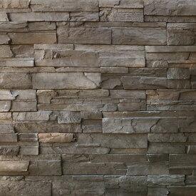 壁石 壁 石 貼り レッジストーン 壁石材 セメント系擬石 スタックストーン チャコールブラウン パネル 0.86平米入り 割肌 壁用石材 外壁 壁用 壁材 石張り 小端積み 石積み ストーン