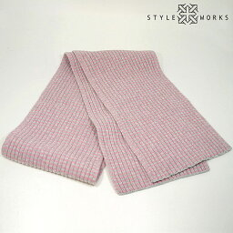 GILBERT WILSON OF HAWICK(吉爾伯特·威爾遜)羊毛圍巾邊緣粉紅&灰色人