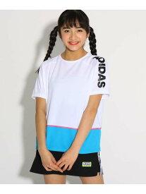 PINK-latte adidasカラーブロックTシャツ ピンク ラテ カットソー【RBA_S】