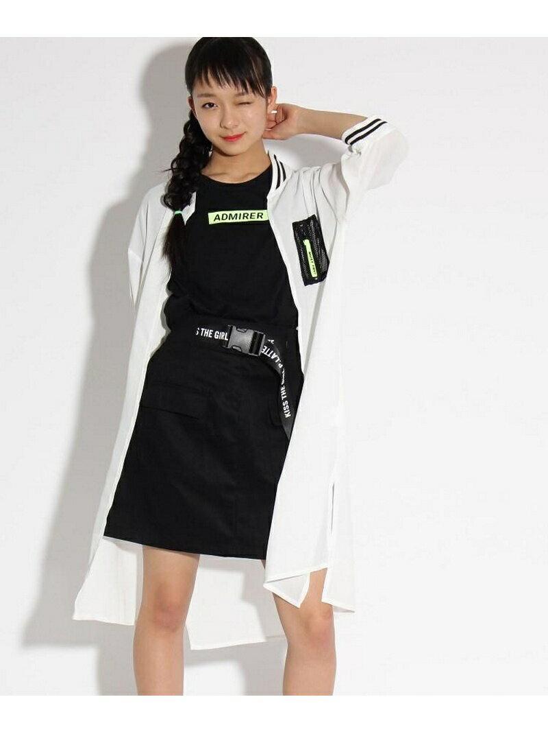 PINK-latte ロングMA-1+Tシャツ セット ピンク ラテ ニット【送料無料】