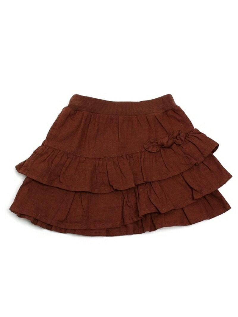 【SALE/60%OFF】HusHusH(Kids) プリペラ織ティアードスカート ハッシュアッシュ スカート【RBA_S】【RBA_E】