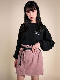 【SALE/66%OFF】ZIDDY ベルト付き コールテン スカートパンツ(130~160cm) ベベ オンライン ストア スカート ロングスカート ピンク ホワイト ブラウン【RBA_E】