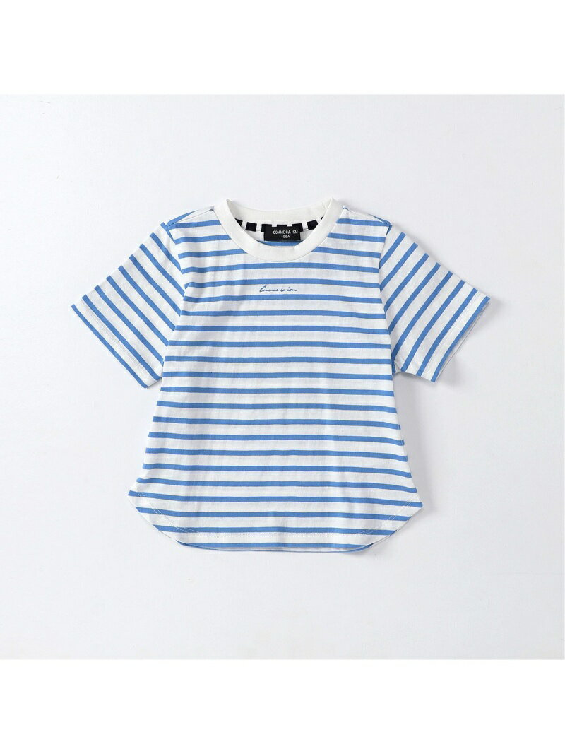 COMME CA ISM ボーダー半袖 Tシャツ コムサイズム カットソー