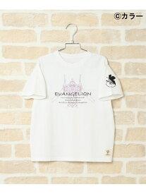 ikka 【親子お揃い】【キッズ】 EVAプリントTシャツ(120~150cm) イッカ カットソー キッズカットソー ホワイト ブラック ネイビー パープル