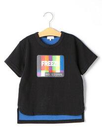 【キッズ】Wフェイス FREEZE Tシャツ ユナイテッドアローズ グリーンレーベルリラクシング カットソー【RBA_S】
