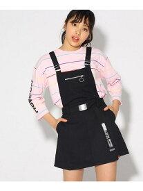 【SALE/50%OFF】PINK-latte ベルト付ジャンパースカート ピンク ラテ スカート【RBA_S】【RBA_E】