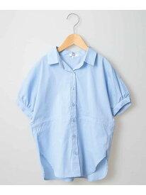 a.v.v [160]ウエストドロストチュニックシャツ[WEB限定サイズ] アー・ヴェ・ヴェ シャツ/ブラウス シャツ/ブラウスその他 ブルー ベージュ