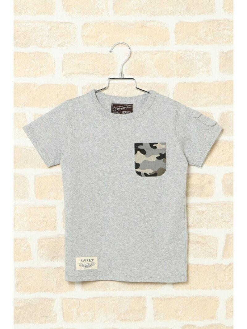 ikka kids AVIREX アヴィレックス ポケTシャツ(110ー140cm) イッカ カットソー【送料無料】