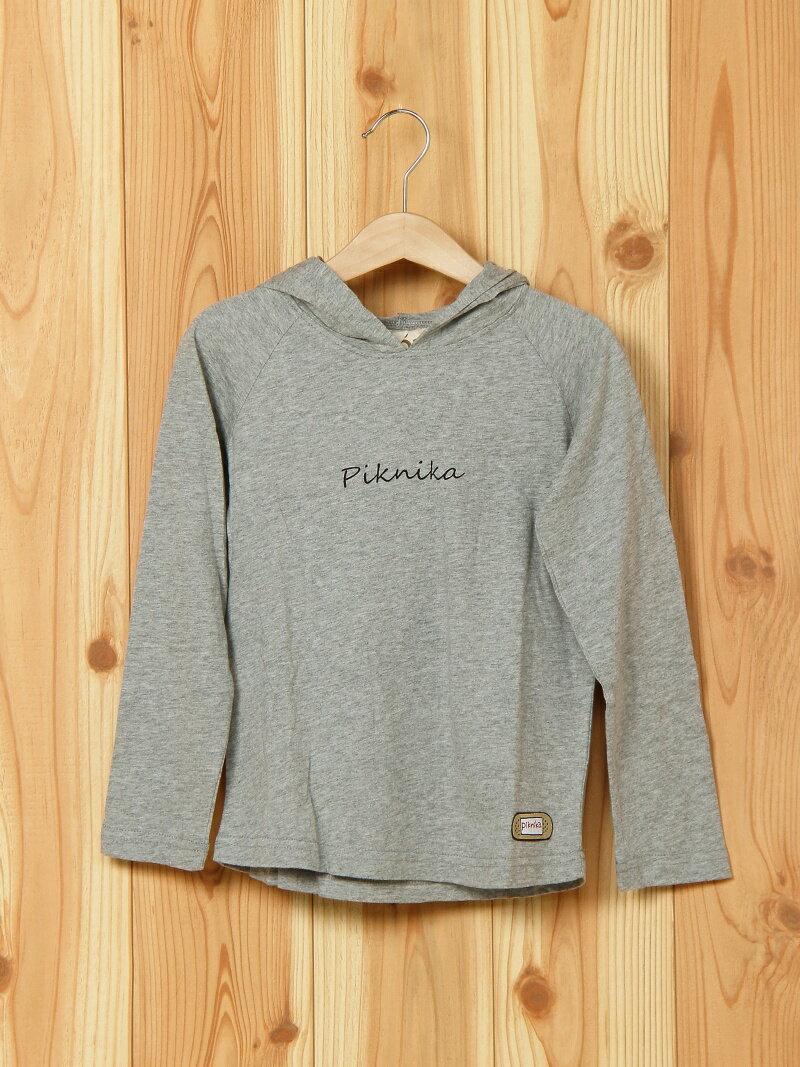 piknika piknika/(K)フードTシャツ ヘッドロック カットソー
