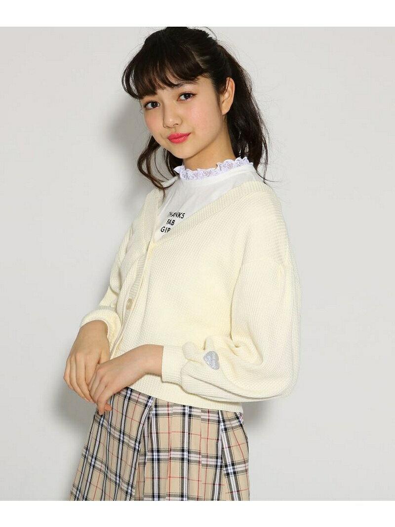 PINK-latte ★ニコラ掲載★ショートカーデ+Tシャツ セット ピンク ラテ ニット【送料無料】