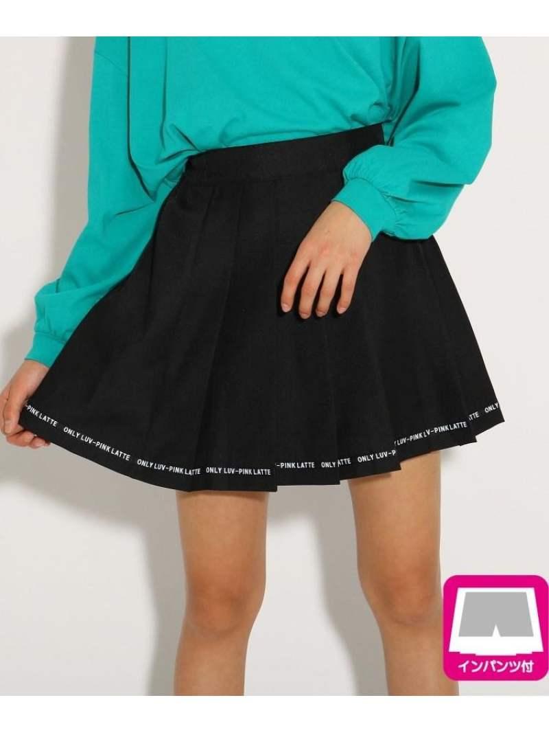 PINK-latte 裾ロゴプリーツ スカート ピンク ラテ スカート