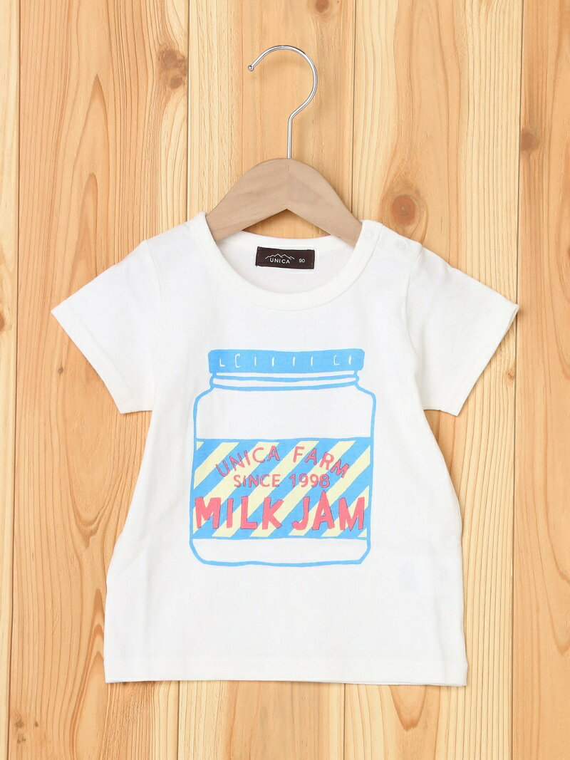 【SALE/59%OFF】unica MILK JAM Tシャツ ユニカ カットソー【RBA_S】【RBA_E】