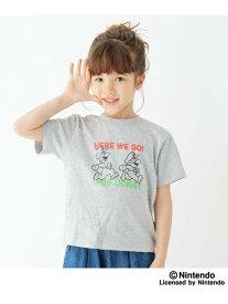 【SALE/40%OFF】THE SHOP TK 【100-160cm】スーパーマリオTシャツ ザ ショップ ティーケー カットソー Tシャツ グレー ブラック レッド ホワイト【RBA_E】